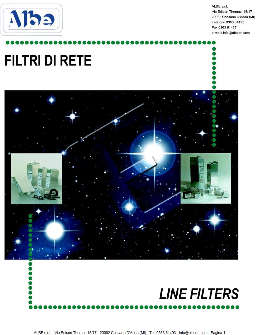 Catalogo Albe Filtri di Rete